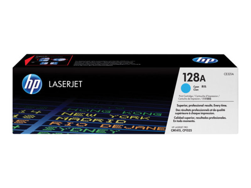 HP 128A Cyan Toner Cartridge - CE321A