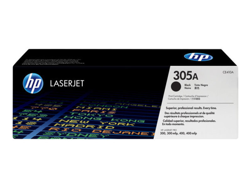 HP 305A Black Toner Cartridge - CE410A