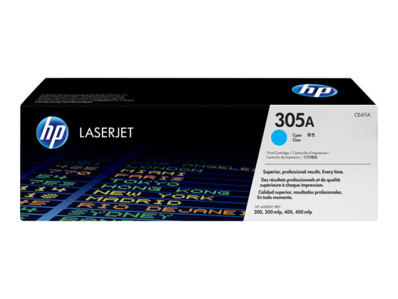 *HP 305A Cyan Toner Cartridge - CE411A