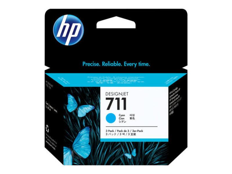 *HP 711 3-pack Cyan Ink Cartridge - CZ134A