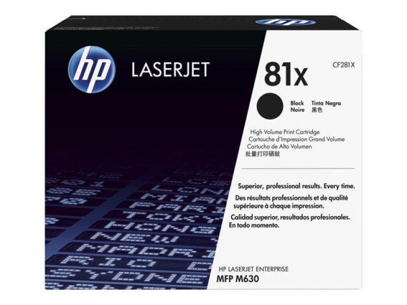 *HP 81X Black LaserJet Toner Cartridge - CF281X