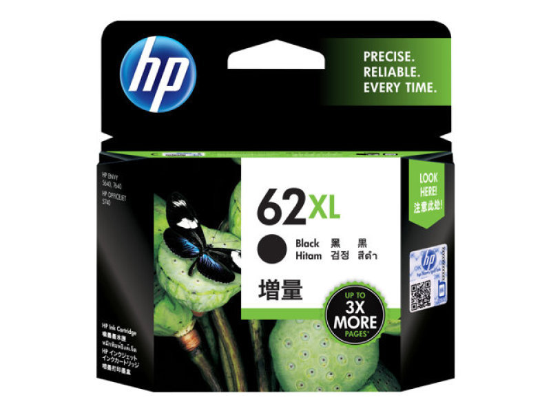 HP 62XL Black ink cartridge - C2P05AE