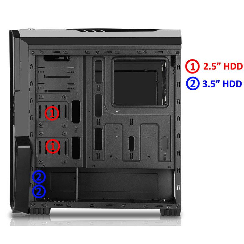 CIT G Force Black RGB PC Gaming Case