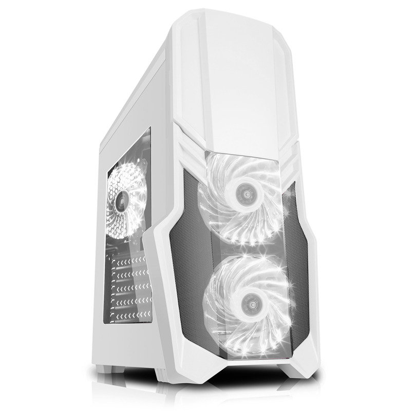 CIT G Force White RGB Gaming Midi Tower Case