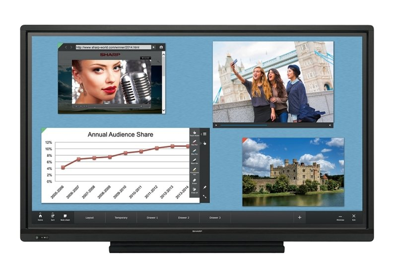 """Sharp PN-70TW3 70"""" Full HD Large Touch Display"""