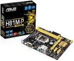 EXDISPLAY Asus H81M-P PLUS Socket 1150 VGA DVI HDMI 8 Channel Audio mATX Motherboard