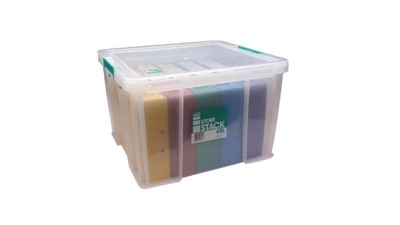 StoreStack 48 Litre Clear Storage Box