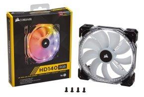 CORSAIR HD140 RGB LED PWM Fan - Single Fan No Control