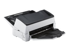 Fujitsu fi-7600 80ppm / 160ipm A3 ADF duplex document scanner. Includes PaperStream IP, PaperStream Capture, ScanSnap Manager for fi-series, Scanner Central Administrator, 2D Barcode module for PaperStream and 12 months On-Site Next Business Day warranty.