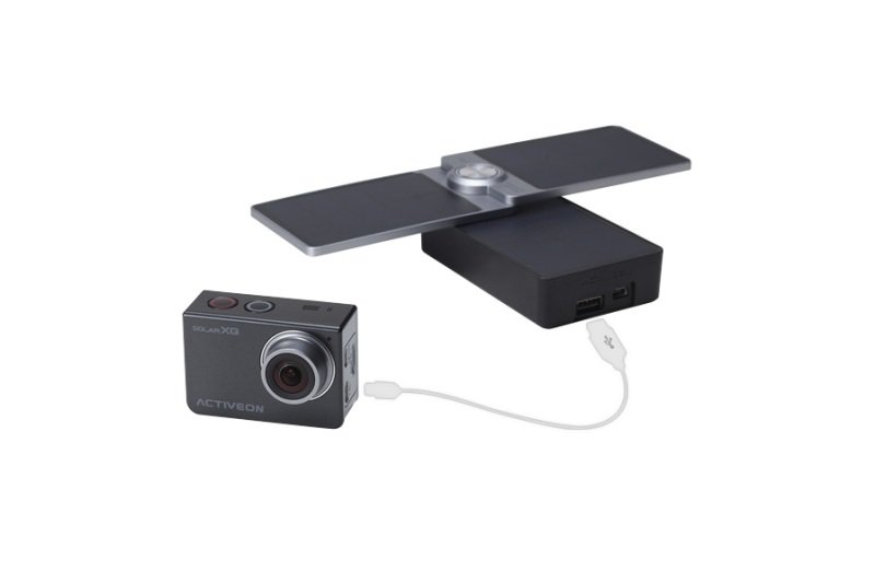 Image of Activeon Solar XG Full HD Wireless Action Camera with Solar Charging Station