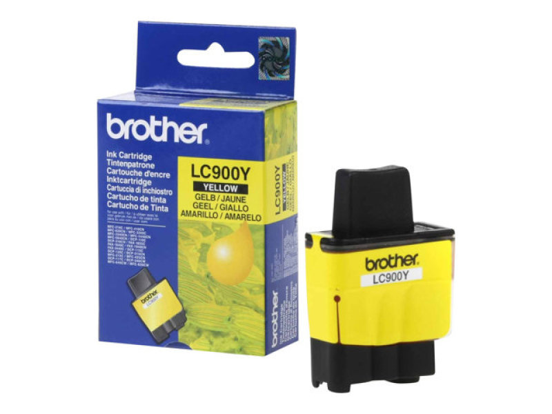 Brother LC900Y Yellow Print Cartridge 400 Pages