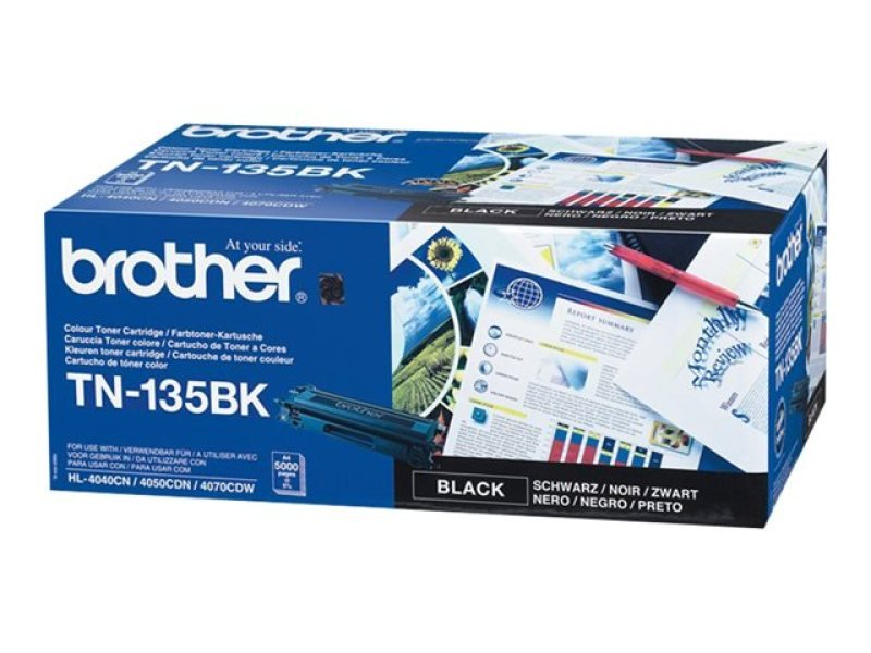 Brother TN-135BK Black Toner cartridge - 5,000 Pages