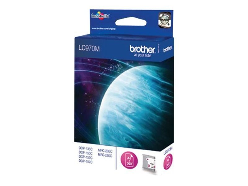 Brother LC970M Magenta Ink Cartridge - 300 Pages
