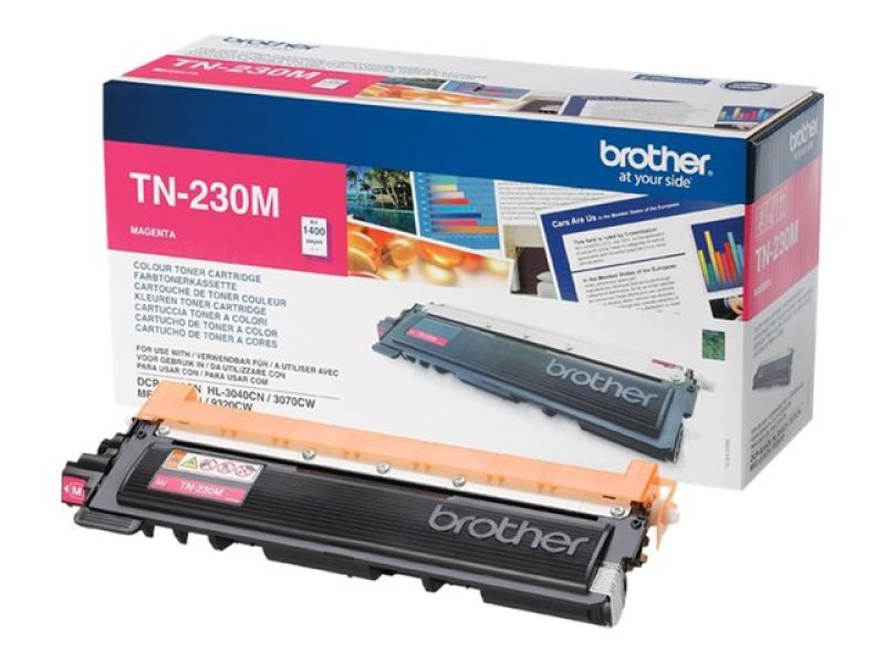 Brother TN-230M Magenta Toner Cartridge - 1,400 Pages