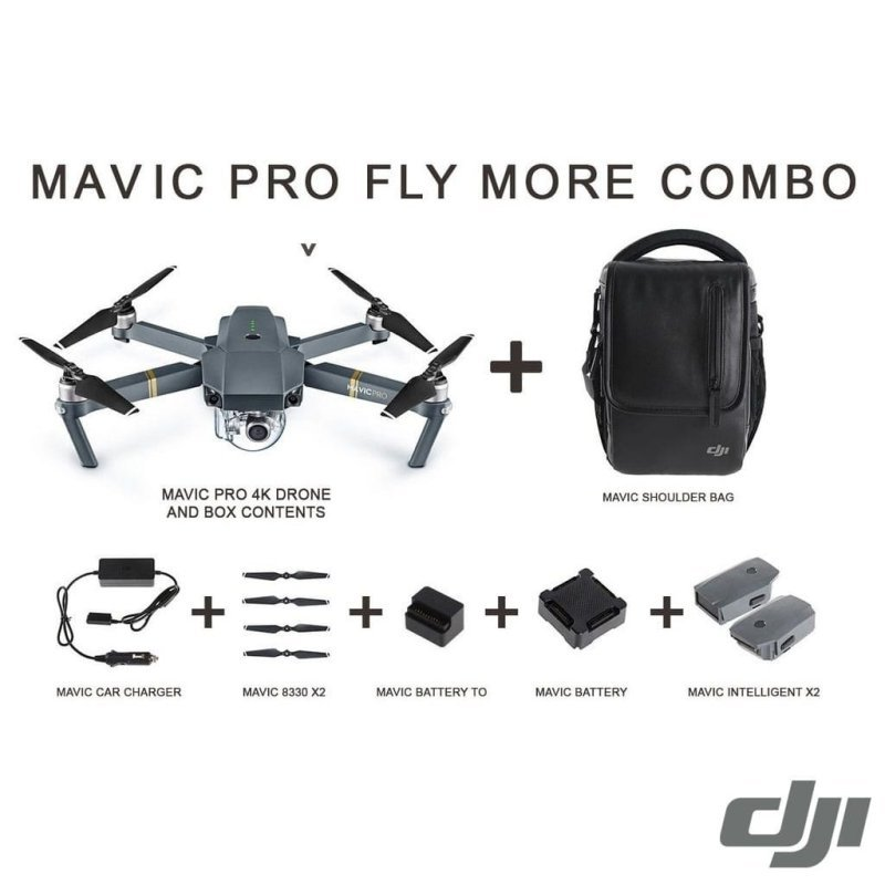 DJI Mavic Pro 4K Quadcopter Drone Fly More Combo | Ebuyer.com