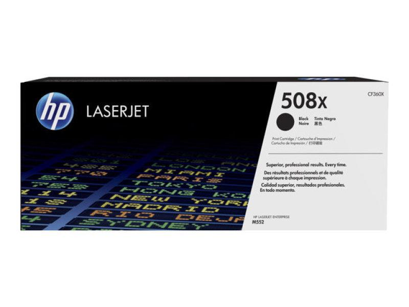 HP 508X Black High Yield Laserjet Toner Cartridge - CF360X