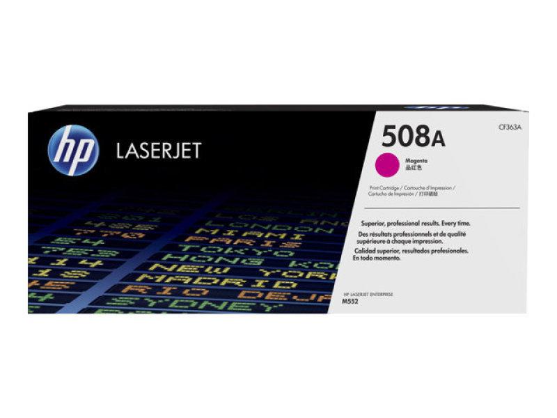 HP 508A Magenta Laserjet Toner Cartridge with JetIntelligence - CF363A