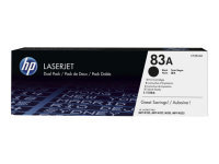 HP 83A Black Dual Pack LaserJet Toner Cartridges - 	CF283AD