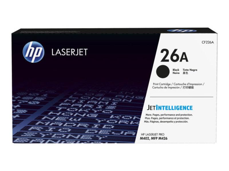 HP 26A Black LaserJet Toner Cartridge with JetIntelligence - CF226A