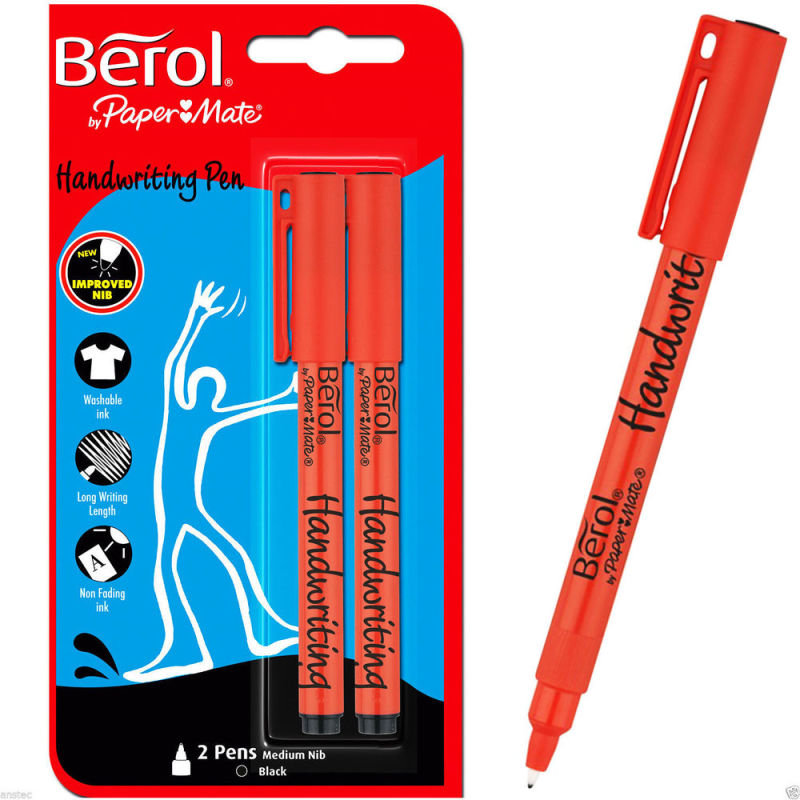 Berol Handwriting Black Pen - 2 Pack