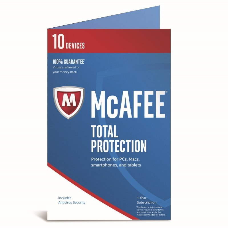 McAfee 2017 Total Protection 10 Device 1 Year Subscription