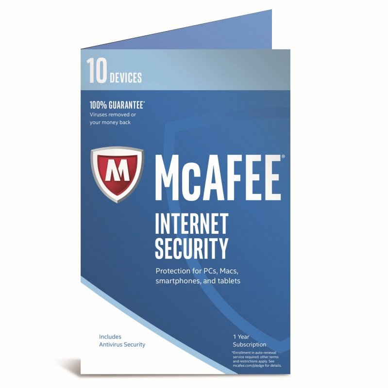 McAfee 2017 Internet Security 10 Device 1 Year Subscription