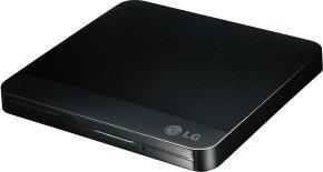 LG 12.7mm Base Ext DVD-RW Black USB 2.0