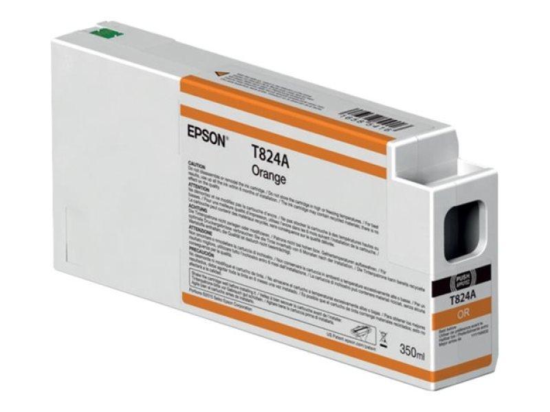 Epson T824A00 (350ml) UltraChrome HDX Orange Ink Cartridge
