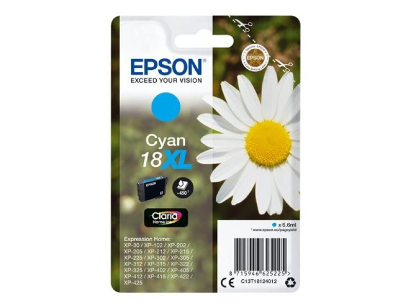 Epson 18XL Cyan Inkjet Cartridge