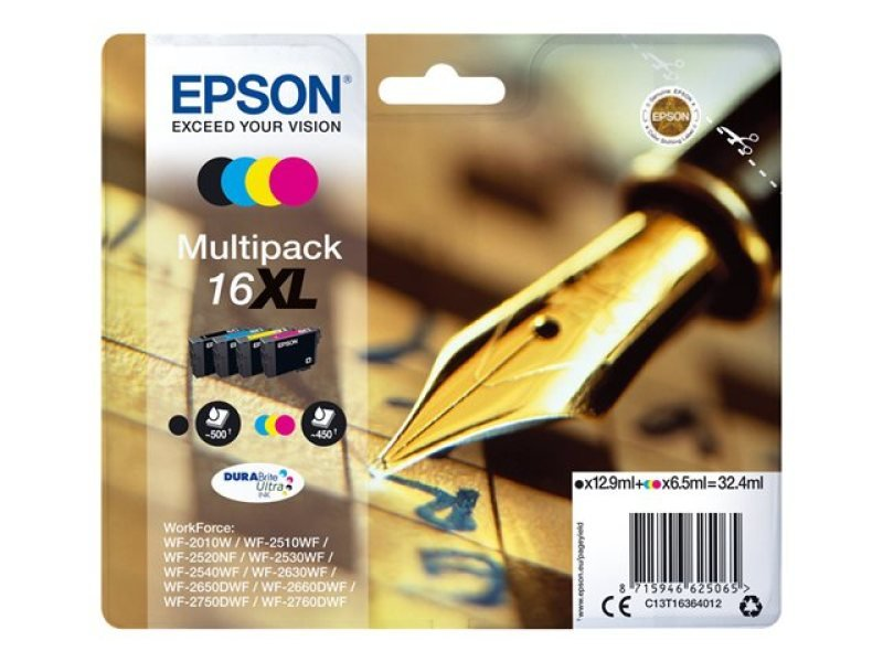 Epson 16XL Pen+Crossword Multi-Pack Ink Cartridges