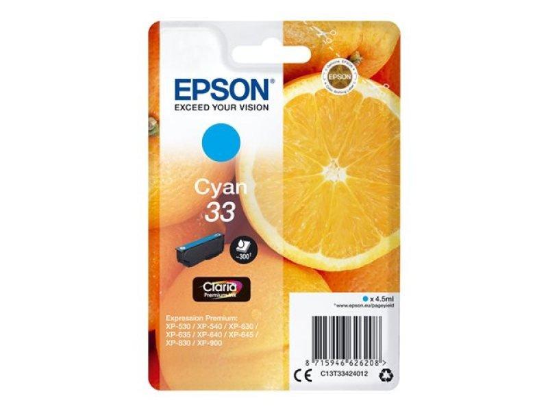 Epson 33 Cyan Inkjet Cartridge