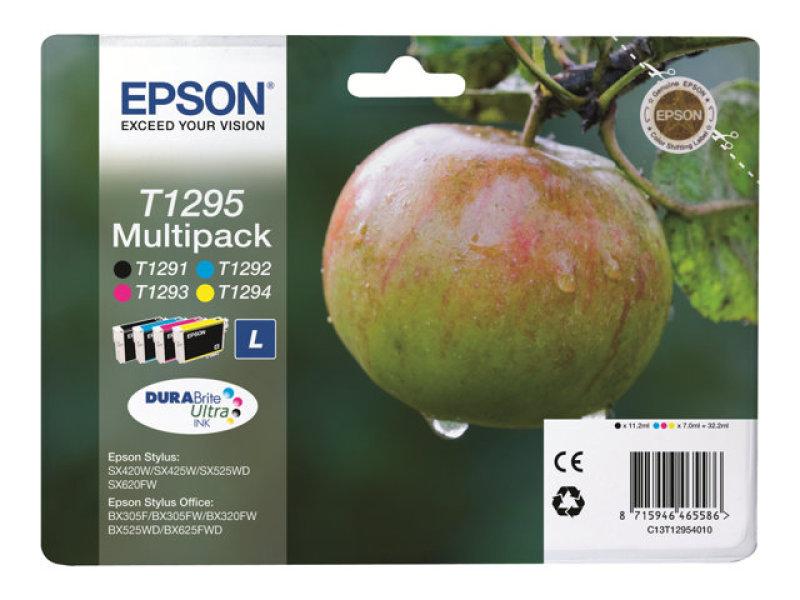Epson Durabrite Apple Multipack C/M/Y/K T1295 Ultra Ink