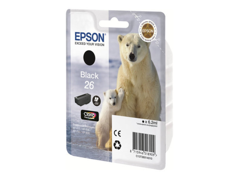 Epson 26 Photo Black Inkjet Cartridge