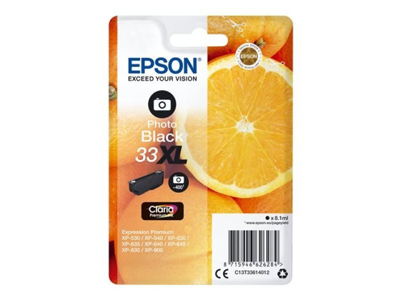 Epson 33XL Photo Black Inkjet Cartridge