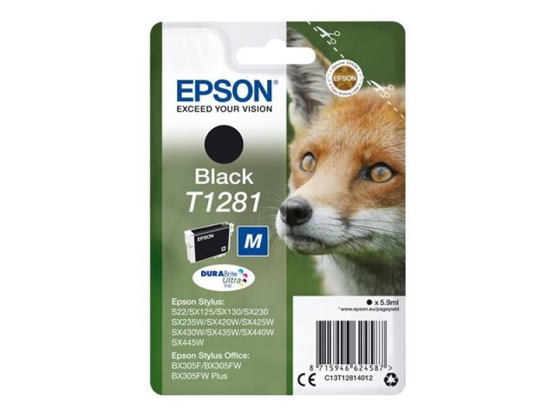 Epson T1281 Black Inkjet Cartridge