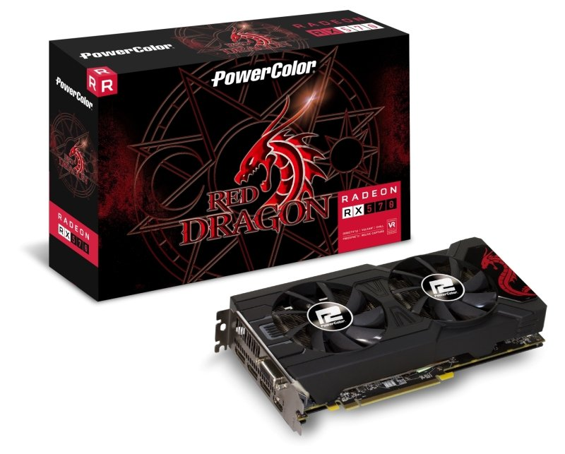 Powercolor AMD RX 570 4GB DDR5 RED DRAGON Graphics Card