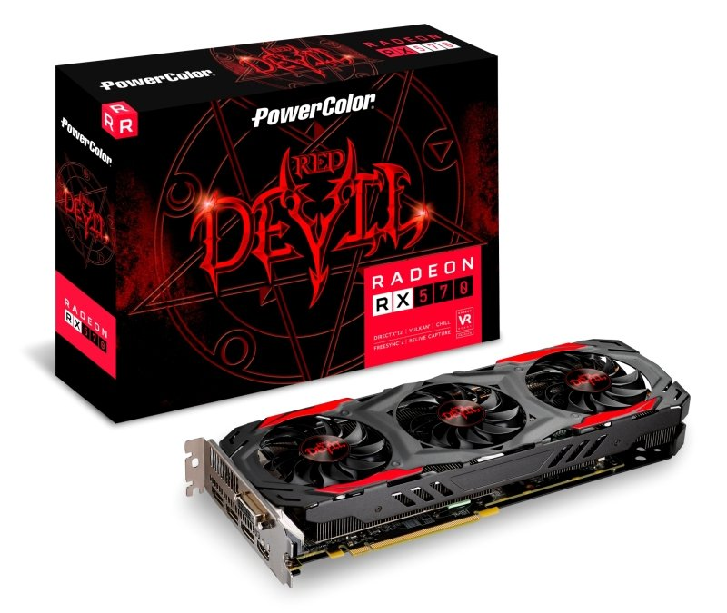 Powercolor AMD RX 570 4GB DDR5 RED DEVIL Graphics Card