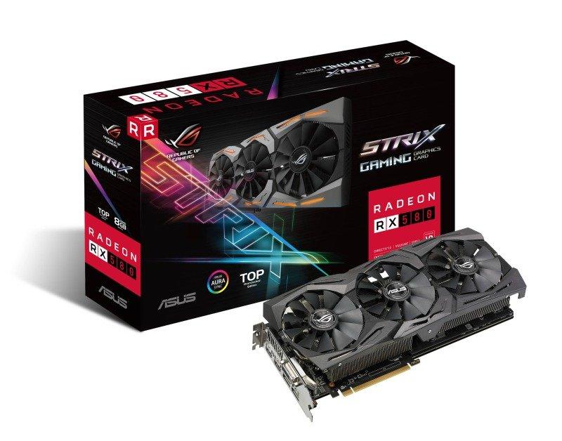 Asus AMD Radeon RX 580 ROG STRIX Top 8GB Gaming Graphics Card