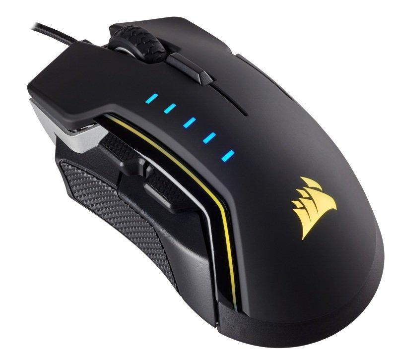 Corsair Gaming GLAIVE RGB Gaming Mouse - Silver/Black