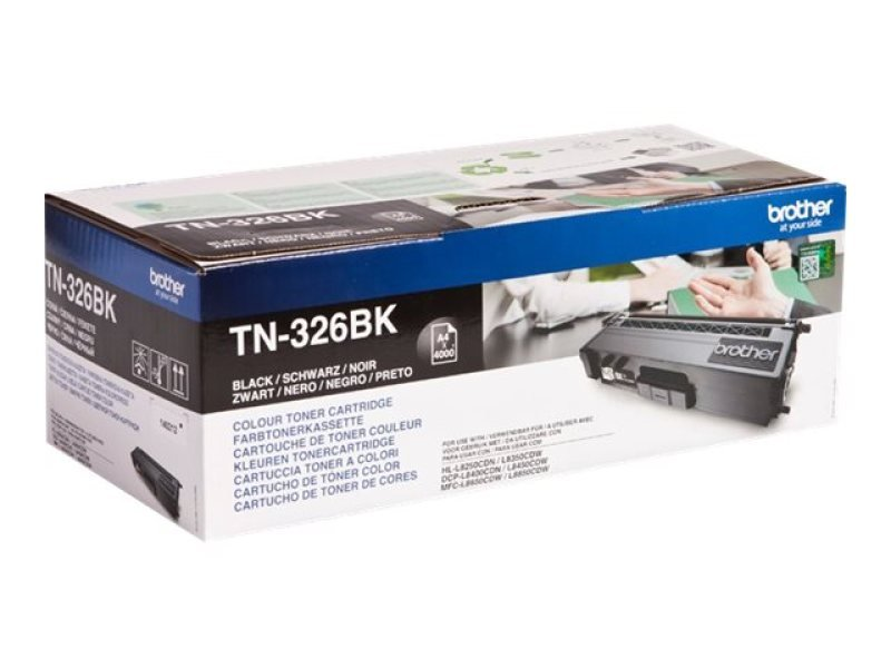 Brother TN-326BK Black Toner Cartridge - 4,000 Pages