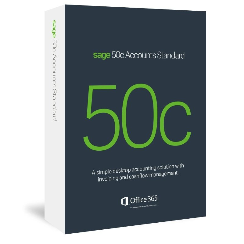 Sage 50c Accounts Standard 12 Month Subscription - Electronic Software Download