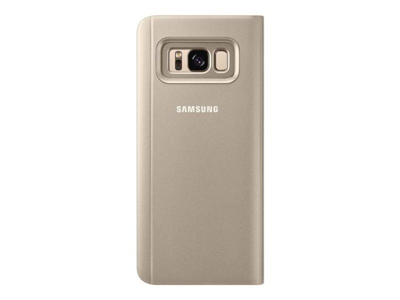 Samsung S8 Clear View Stand Cover Gold