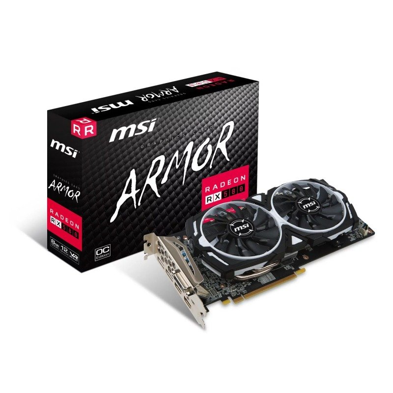 MSI AMD Radeon RX 580 8GB ARMOR 8G OC Graphics Card