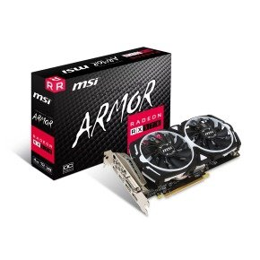 MSI AMD Radeon RX 570 4GB ARMOR OC Graphics Card