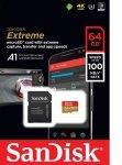 Sandisk 64gb Extreme Msdxc + Adpt A1
