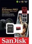 Sandisk 32gb Extreme Pro Msdhc + Adpt A1