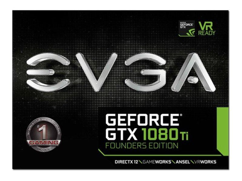 EVGA Nvidia GTX 1080 Ti Founders Edition 11GB GDDR5X Graphics Card