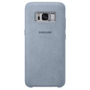 Samsung S8 Alcantara Back Cover Mint