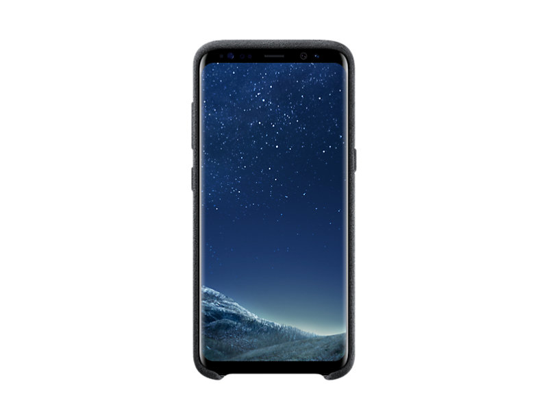Samsung S8 Alcantara Back Cover - Black
