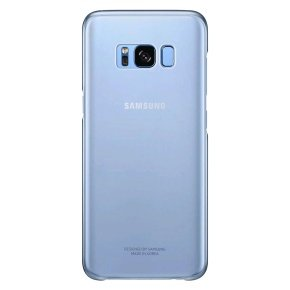 Samsung S8 Clear Cover - Blue